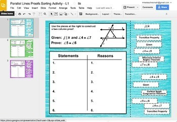 Geometry Proofs Digital Activity Bundle