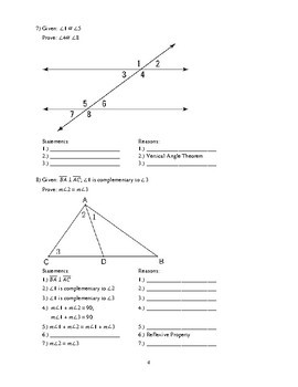 Geometry Proofs Packet 1