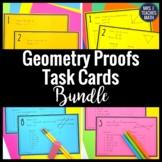 Geometry Proofs Task Card Bundle