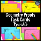 Geometry Proofs Task Card Bundle