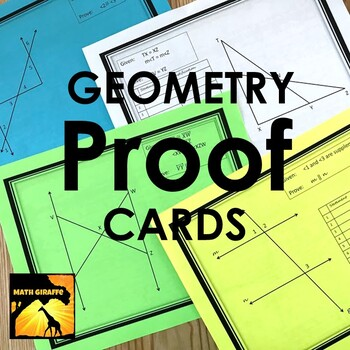 Geometry Proofs Task Cards