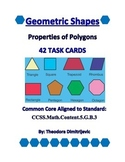42 Geometry Properties of Polygons Task Cards for CCSS.Mat