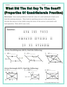 Quadrilateral Worksheet