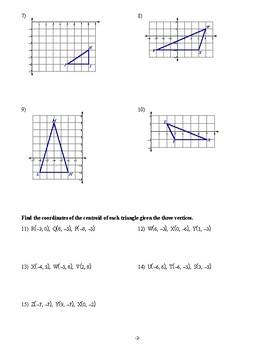 Geometry - Properties of Triangles - Homework Pack