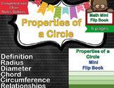 Geometry - Parts of a Circle Foldable & Mini Flip Book (Radius, Diameter, Chord)