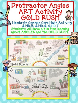 Geometry Protractor Angle Art GOLD RUSH and WILD WEST