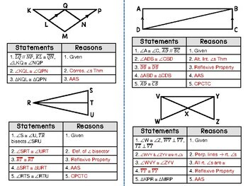 Geometry - Proving Triangle Congruence ASA and AAS - Set of 2 Foldables