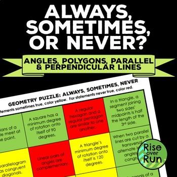 Geometry Puzzle: Always, Sometimes, Never True