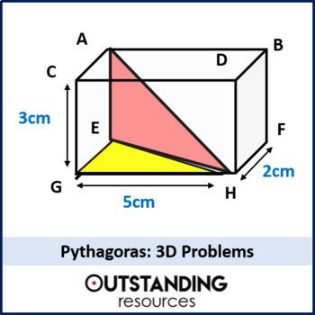 Geometry: Pythagoras 3 - Pythagoras in 3 Dimensions (3D) + resources