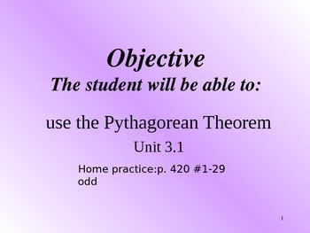Geometry Pythagorean Theorem
