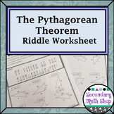 Right Triangles - Geometry Pythagorean Theorem Riddle Worksheet