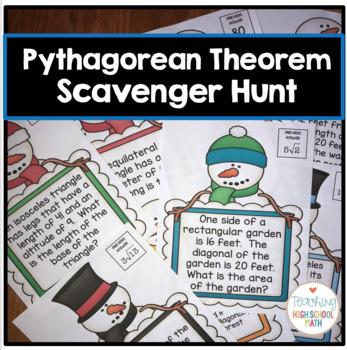 Geometry Pythagorean Theorem Scavenger Hunt