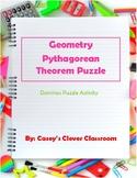 Geometry Pythagorean Triples Puzzle Activity