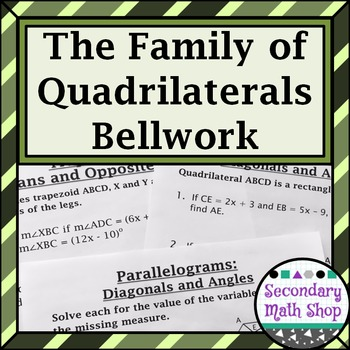 Quadrilaterals Unit Seven: Bellwork /  Station Questions