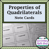Quadrilaterals and Polygons Note Cards