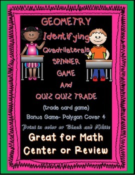 Geometry Quadrilaterals Spinner Games