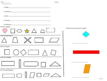 Geometry: Quadrilaterals parallelogram
