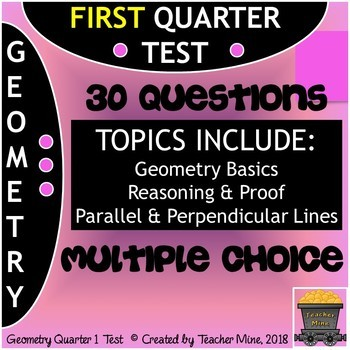 Geometry Quarter 1 Test