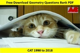 Geometry Questions Bank PDF of CAT 1990 to 2018