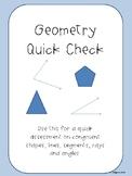 Geometry Quick Check