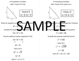 Geometry Quick Notes: Pythagorean Theorem (find leg & hypotenuse)
