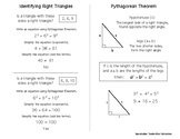 Geometry Quick Notes: Pythagorean Theorem (Identifying Right Triangles)