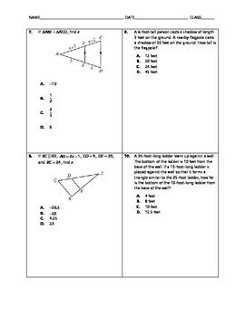Geometry Quick Quiz - Similar Triangles