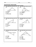 Geometry Quick Quiz - Triangle Inequalities