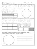 Geometry Quiz 3.G.2 Commor Core Aligned