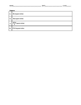 Geometry Quiz - Areas of Circles and Sectors BUNDLE