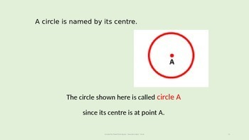 Geometry Quiz Game / PowerPoint on Circles, Radius, Diameter, Circumference, Pi