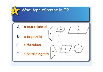 Geometry Quiz -Grade 3/4