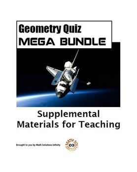 Geometry Quiz MEGA BUNDLE