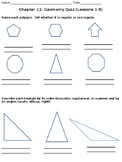 Geometry Quiz - Polygons, Triangles, Quadrilaterals