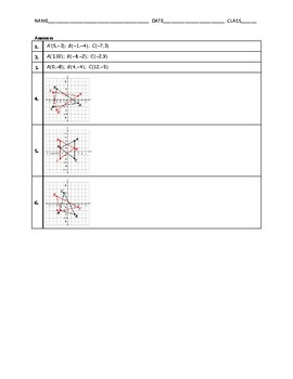 Geometry Quiz - Reflections BUNDLE