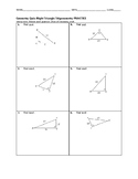 Geometry Quiz - Right Triangle Trigonometry BUNDLE