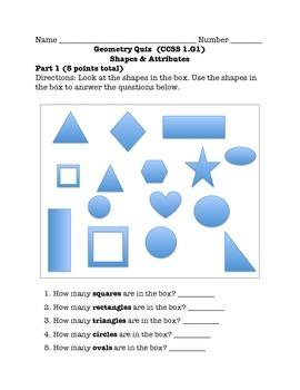 Geometry Quiz (Shapes & Attributes)