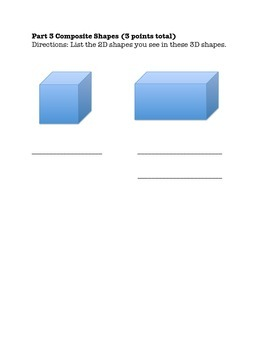Geometry Quiz (Shapes & Fractions)
