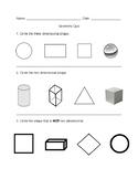 Geometry Quiz: Solid & Plane Shapes, Symmetry