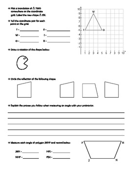 Geometry Quiz by JennyG
