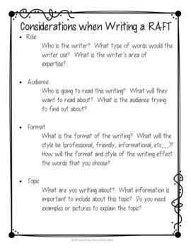 Geometry RAFT Writing in Math Activity