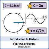 Radians 1 - An Introduction (+ worksheet)