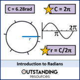 Geometry: Radians 1 - An Introduction (+ worksheet)