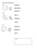 Geometry: Ratio of similar figures comparing Area, SA, Volume, perimeter