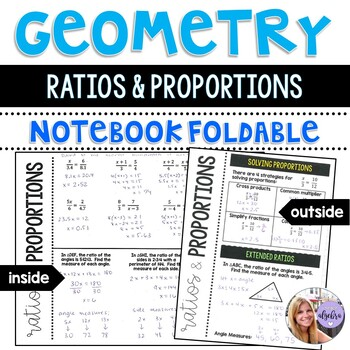 Geometry - Ratios and Proportions Foldable