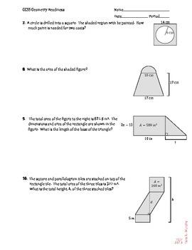 Geometry Readiness