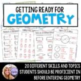 Geometry - Readiness Prep / Summer Packet for Algebra 1 St