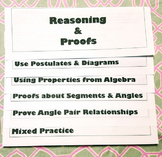 Geometry Reasoning and Proofs Flipbook