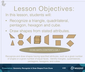 Geometry: Recognize & Draw Shapes From Clues