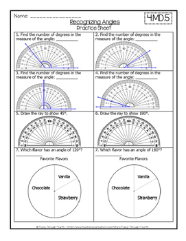 Geometry: Recognizing Angles 4.MD.5